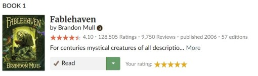 Fablehaven Goodreads Rating