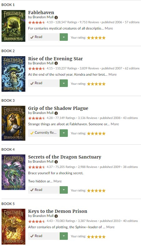Series Rating Fablehaven